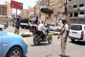 Checkpoint in the city of Mukalla in southern Yemen.jpg