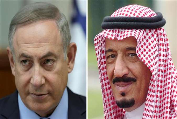 The combo picture shows Israeli Prime Minister Benjamin Netanyahu (L) and Saudi King Salman.