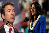 "Dr. Rand Paul (L) Introduces Tulsi Gabbard's ""Stop Arming Terrorists Act"" in Senate"