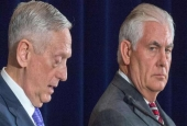 US Secretary of Defense Jim Mattis (L) and US Secretary of State Rex Tillerson conduct a two question press conference after meeting with Chinese officials, June 21, 2017. (Photo by AFP)