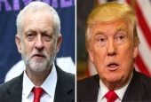 British Labour Party leader Jeremy Corbyn (left) and US President Donald Trump.jpg
