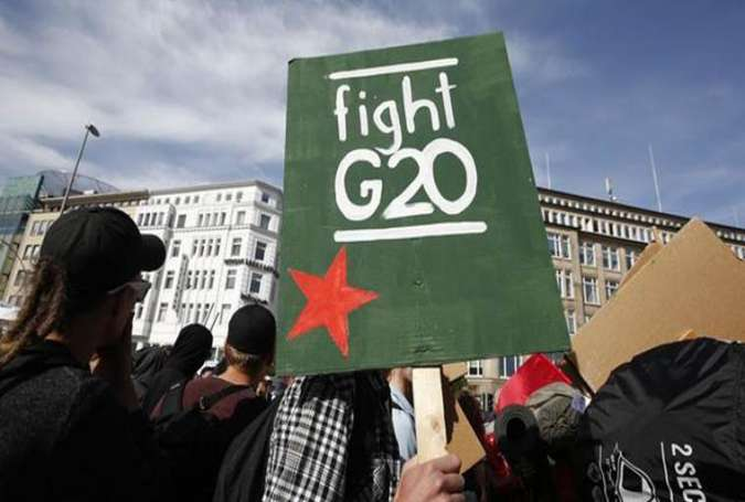 Anti-G20 Protests in Hamburg, Trump Attracts Most Hatred