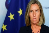 European Union foreign policy chief Federica Mogherini addresses a news conference after meeting Russian Foreign Minister Sergei Lavrov (not pictured) in Brussels, Belgium, July 11, 2017. (Photo by Reuters)