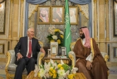 A handout picture provided by the Saudi Royal Palace on July 12, 2017 shows Crown Prince Mohammed bin Salman Al Saud (R) meeting with US Secretary of State Rex Tillerson in Jeddah, Saudi Arabia. (Photo by AFP)