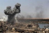 Airstrike by US-led coalition forces in Mosul..jpg