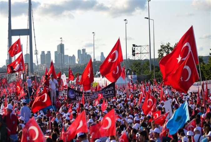 Turks flock to national unity march on coup anniversary
