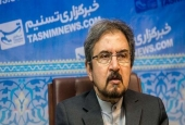 Iran's Foreign Ministry spokesman Bahram Qassemi speaks at the office of Tasnim news agency in Tehran on July 16, 2017.