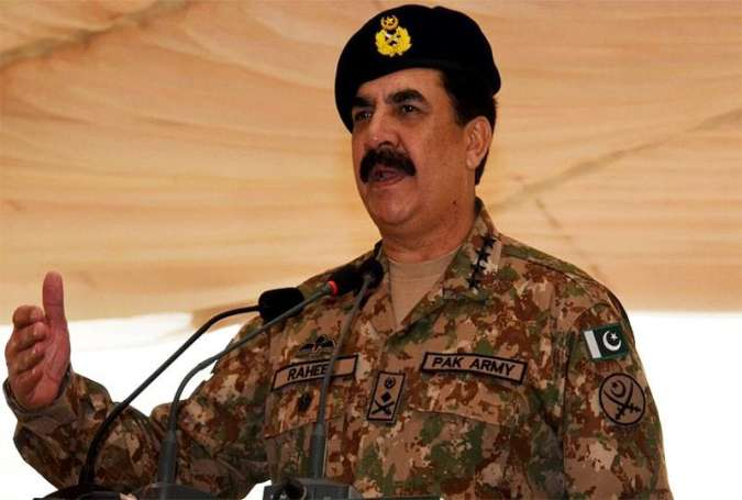 Pakistan's former military chief General Raheel Sharif