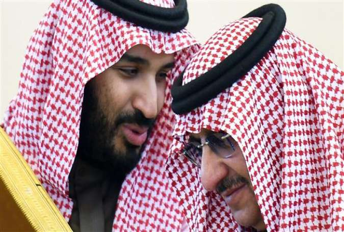 Saudi Arabia's new crown prince Mohammed bin Salman (L), and the man he is believed to have ousted, Mohammed bin Nayef