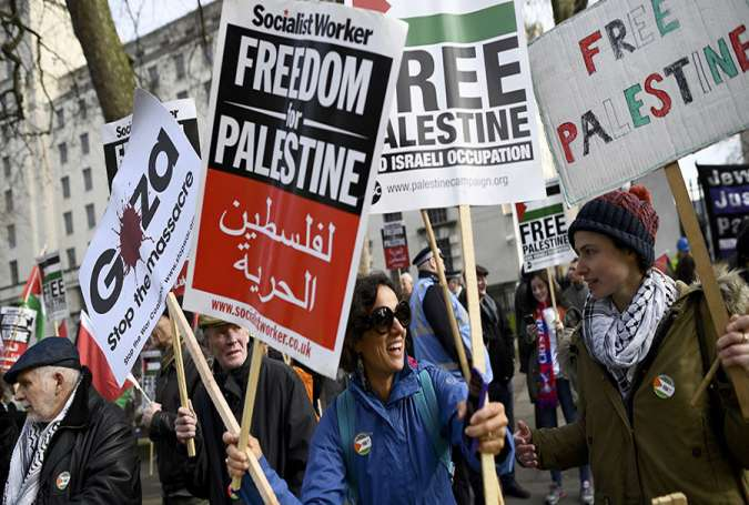 British protesters hold anti-Israel rallies in London
