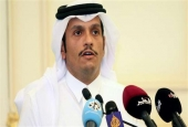Qatari Foreign Minister Sheikh Mohammed bin Abdulrahman Al Thani speaks at a joint news conference with his French counterpart (unseen) in Doha, Qatar, July 15, 2017. (Photo by Reuters)