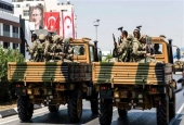 File photo of a Turkish military parade