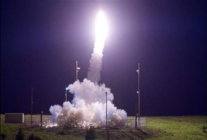 Terminal High Altitude Area Defense (THAAD) is launched from the Pacific Spaceport Complex Alaska.jpg