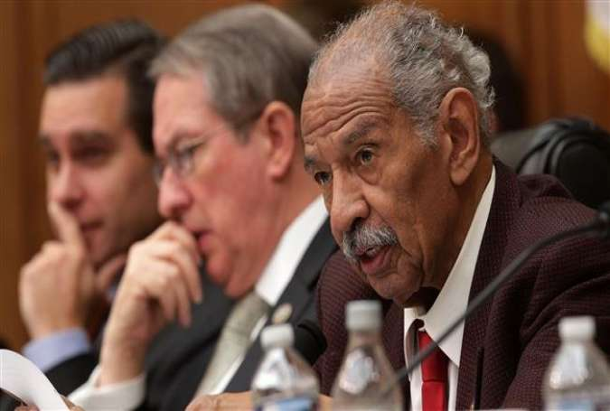 Rep. John Conyers (R) participates in a markup hearing before the House Judiciary Committee..jpg