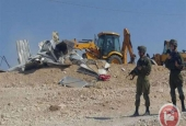 Israeli forces demolish UN-funded homes in a Bedouin village in the West Bank..jpg