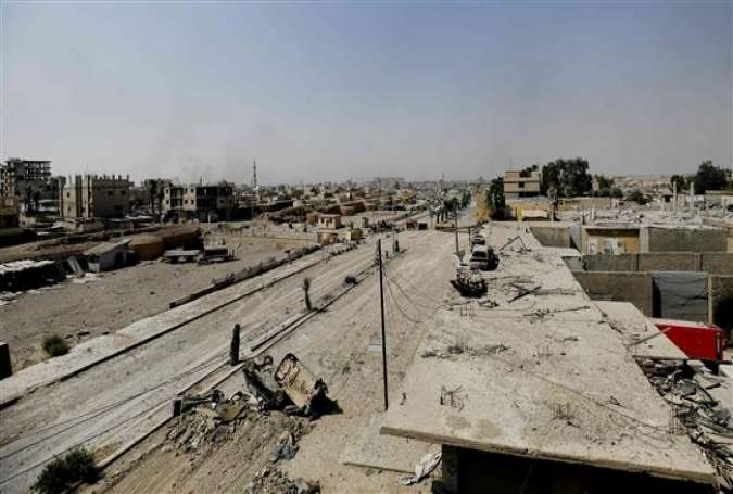 The photo shows an eastern area of the embattled city of Raqqah in northern Syria on August 15, 2017. (Photo by AFP)