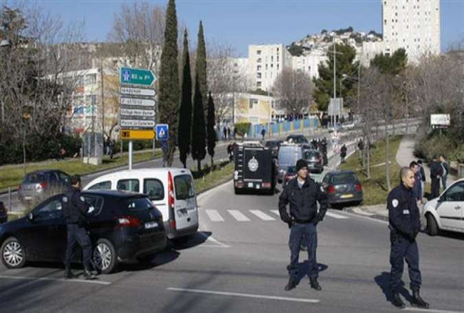 File photo of police forces in the French port city of Marseille