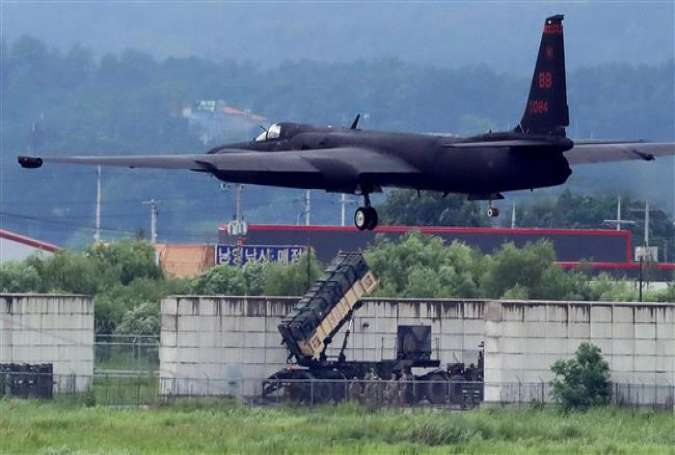 A US Air Force U-2 Dragon Lady takes part in a drill at Osan Air Base in Pyeongtaek, SouthKorea, August 21, 2017. (Photo by Reuters)