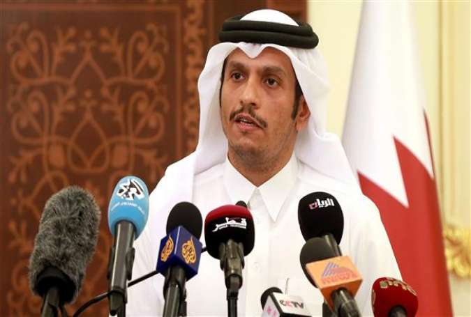 Qatari Foreign Minister Mohammed bin Abdulrahman Al Thani gives a press conference in the capital Doha on May 25, 2017. (Photos by AFP)