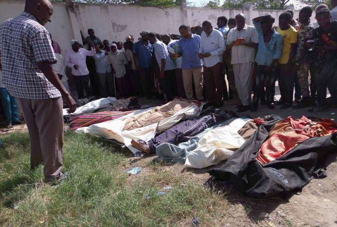 Bodies of people killed in Friday raid were transported to Mogadishu on late Friday morning