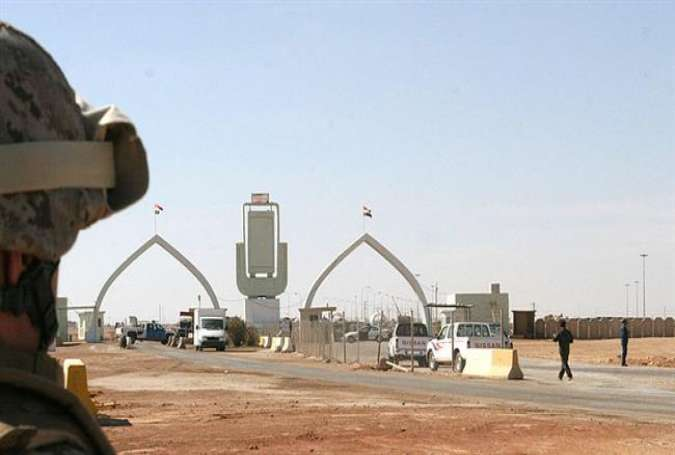 The file photo shows the Tureibil border crossing between Iraq and Jordan