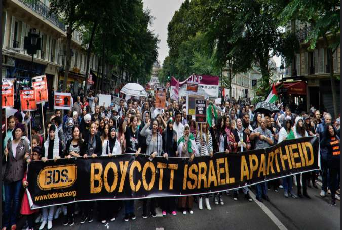 A pro-BDS rally in France