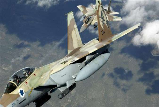 In this file photo, two Israeli Air Force F-15I Ra'am aircraft practice air defense maneuvers at Nellis Air Force Base, Nevada, the United States. (Photo by the United States Air Force)