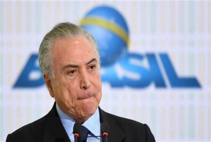 Brazilian President Michel Temer (Photo by AFP)