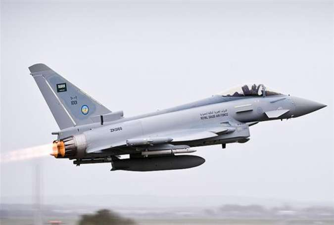 A UK-made Eurofighter Typhoon jet belonging to the Saudi air force (File photo)