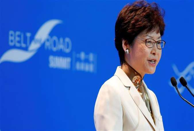 Hong Kong Chief Executive Carrie Lam (photo by Reuters)