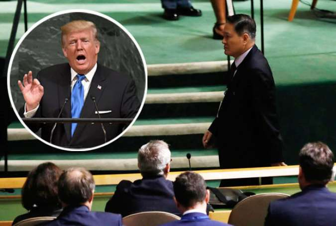 North Korea Envoy Boycotts Trump's UNGA Address
