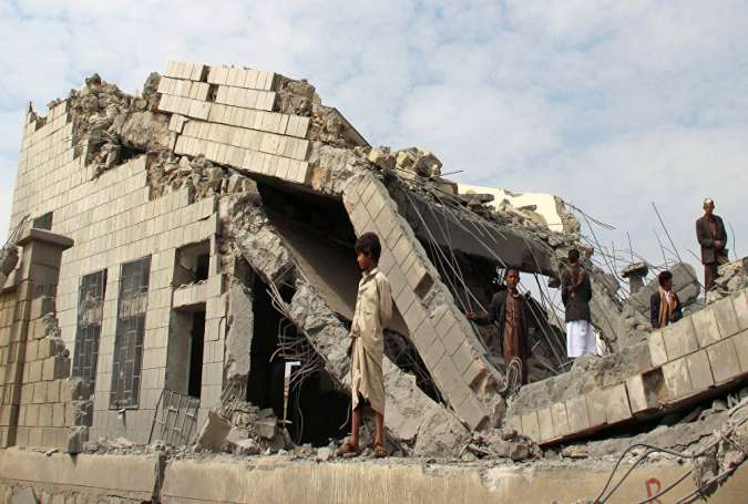 Saudi bombardment of civilian building in Yemen has left millions displaced