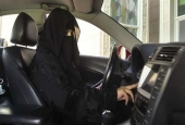 A woman behind the wheel in Saudi Arabia in 2013. (Photo by Reuters)