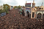 Mourners hold ceremonies in a central square in Ardabil in northwestern Iran to mark Tasu