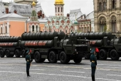 Russian S-400 missile systems are seen riding through Red Square during the Victory Day military parade in Moscow, Russia, on May 9, 2017. (Photo by AFP)