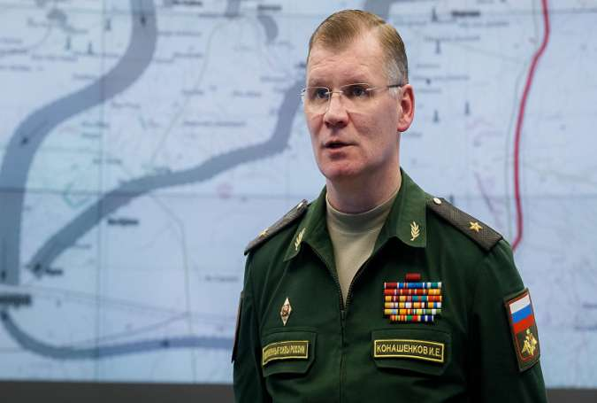 Major General Igor Konashenkov, the Russian defense ministry's spokesman