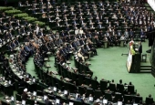 The picture shows a general view of the Iranian Parliament (By AP)