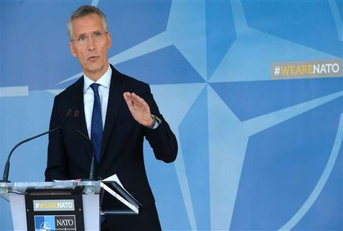 NATO Secretary General Jens Stoltenberg talks to the media at NATO headquarters in Brussels, on July 13, 2017. (Photo by AFP)