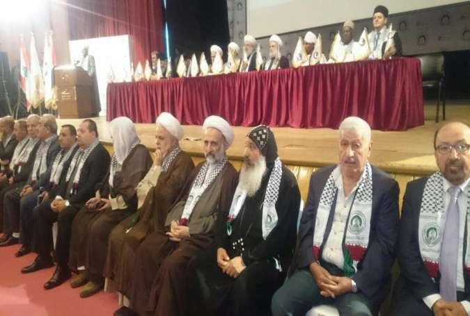 عالمی فلسطین کانفرنس ''الوعد الحق'' کی مفتی اعظم لبنان شیخ ماہر حمود کی صدارت میں افتتاحی تقریب