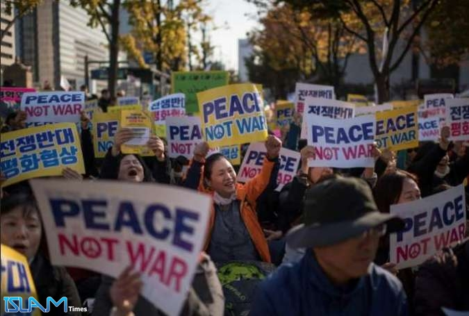 Anti-Trump Protesters in Japan Urge peace in East Asia Region
