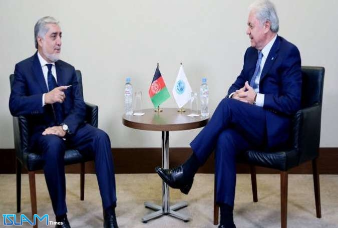 Abdullah Abdullah, Afghan Chief Executive, meet Rashid Alimov, Secretary General of SCO on sidelines of Sochi Summit