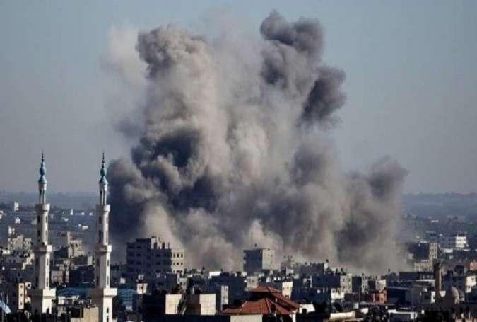 حملات هوایی و زمینی رژیم صهیونیستی به نوار غزه