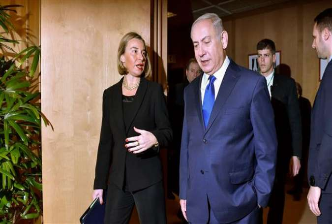 Federica Mogherini, EU foreign policy chief with Israeli Prime Minister Benjamin Netanyahu.jpg
