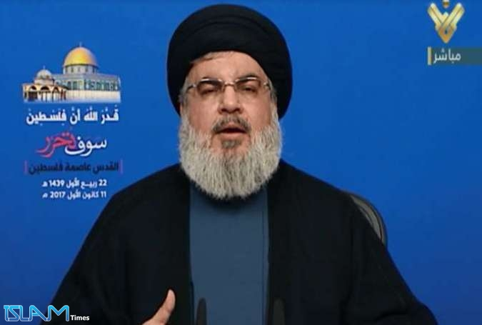 Hezbollah Leader Reaffirms Palestine as Top Priority after Victory over Terrorists