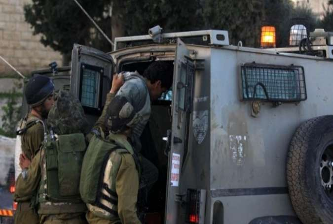 Zionist occupation forces have arrested Palestinians.jpg