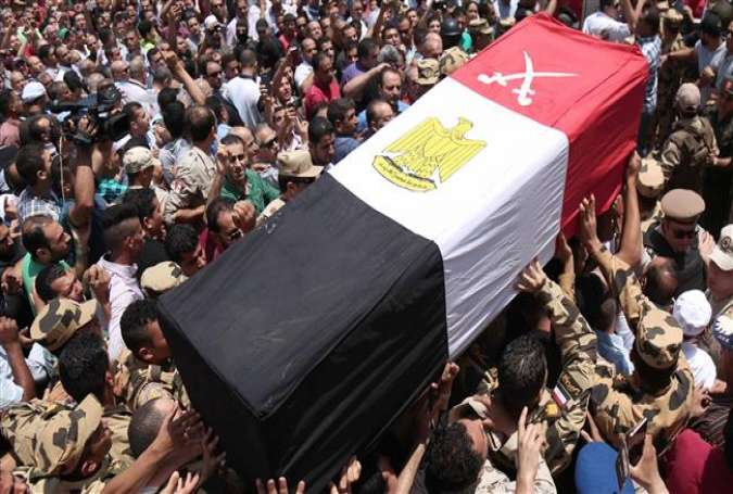 Egyptians carry the coffin of a soldier.jpg