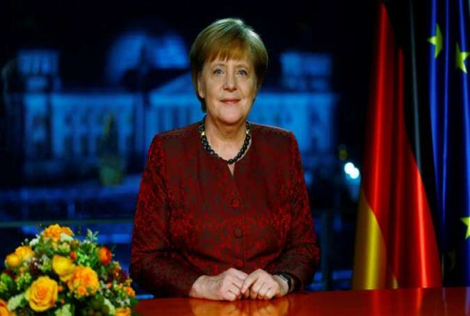 German Chancellor Angela Merkel poses for a photograph after the recording of her annual New Year's speech, at the Chancellery in Berlin, Germany, on December 30, 2017. (Photo by AFP)
