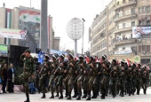 Syrian government soldiers march.jpg