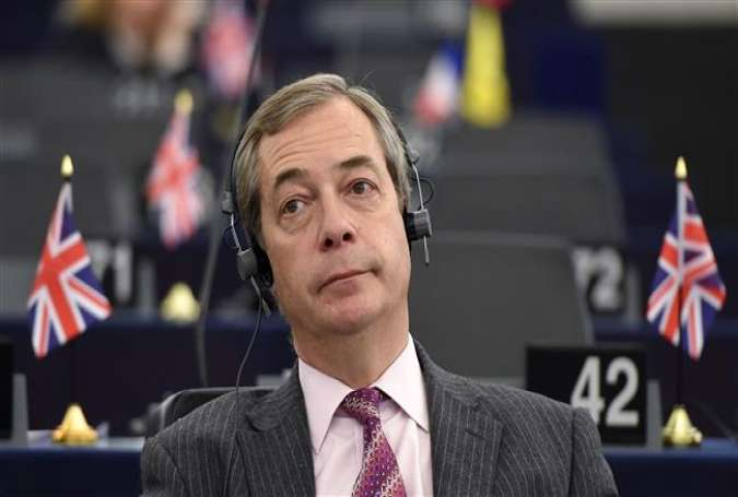 Former leader of UK Independence Party (UKIP) Nigel Farage attends a debate on the progress of the Brexit talks at the European Parliament in Strasbourg, France, on December 13, 2017. (AFP photo)