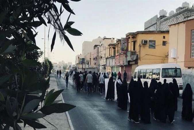 Bahraini protesters participate in an anti-regime rally in the island of Sitra on January 15, 2018.